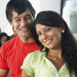 South American couple at party — Stock Photo