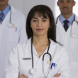 Portrait of multi-ethnic doctors — Stock Photo #23277104