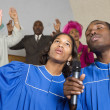 African American singing in church — Stock Photo #23277168