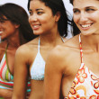 Three woman wearing bathing suits — Stock Photo #23277406