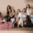 Group of Hispanic women at party — Stock Photo #23278472
