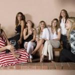 Group of Hispanic women at party — Stock Photo