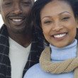 Stock Photo: Close up of Africcouple smiling