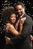 Portrait of African couple dancing — Stock Photo