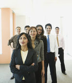 Portrait of multi-ethnic businesspeople in office — Stock Photo