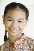 Close up of Pacific Islander girl smiling — Stock Photo