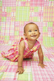 Close up baby smiling — Stock Photo