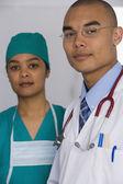 Portrait of multi-ethnic doctors — Stock Photo