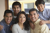 Portrait of Hispanic family — Stock Photo