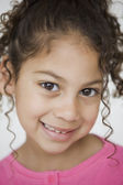 Close up of Hispanic girl — Stock Photo