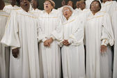 African seniors singing in choir — Foto de Stock