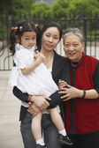 """""""Portrait of Asian grandmother, mother and daughter"""" — Foto de Stock"""