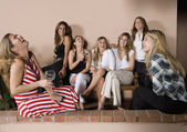 Group of Hispanic women at party — Stock Photo