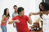 South American couple dancing at party — Stock Photo