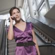 Stock Photo: Hispanic businesswomtalking on cell phone