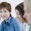 Stock Photo: Multi-ethnic businesswomen at meeting