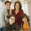Hispanic family on train — Stock Photo