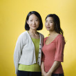 Portrait of Asian mother and adult daughter — Stock Photo