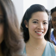 Multi-ethnic businesswomen in row — Stock Photo
