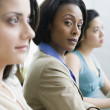 Multi-ethnic businesswomen at meeting — Foto de Stock
