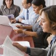 Hispanic businesspeople at meeting — Stock Photo