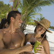 Hispanic couple at beach — Stock Photo