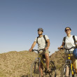 Hispanic couple on scenic bicycle ride — Stock Photo