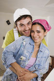 Middle Eastern couple hugging — Stock Photo