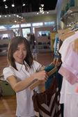 Asian woman clothing shopping — Stock Photo