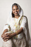 African woman wearing traditional dress — Stock Photo