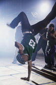 African man breakdancing — Stock Photo