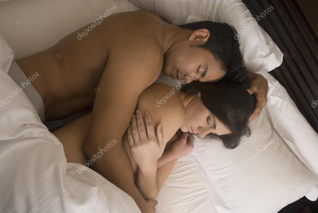 Hispanic Couple Image Hispanic Couple Sleeping in