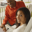 Stock Photo: Africcouple studying
