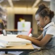 African girl studying — Stock Photo