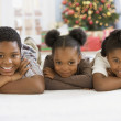 African siblings lying — Stock Photo #23315208