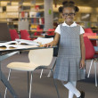 African girl in school uniform — Stock Photo