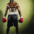 Portrait of African male boxer — Stock Photo #23315782