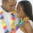 Stock Photo: Africcouple smiling at each other