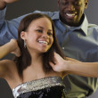 African couple dancing — Foto de Stock