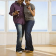 African couple dancing — Stock Photo