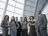 Multi-ethnic businesspeople in conference room — Stock Photo