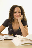 African woman studying — Stock Photo