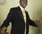 African man wearing suit — Stock Photo