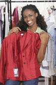 African woman clothing shopping — Stock Photo
