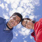 Low angle of Indian couple — Stock Photo