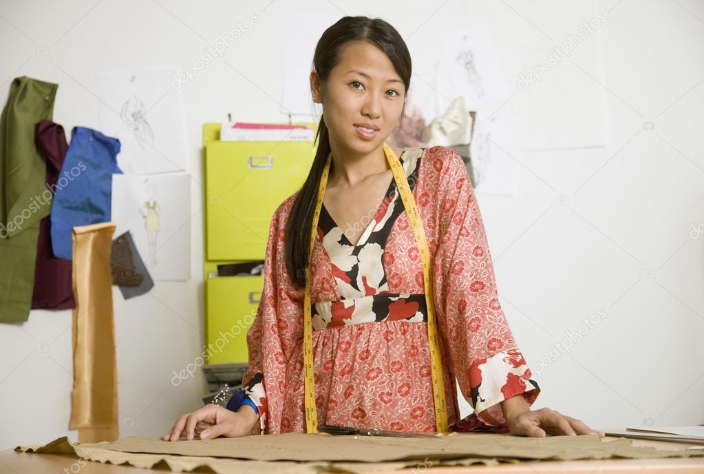 Asian Female Fashion Designer In Workshop Stock Photo Bst2012 23314246