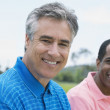Multi-ethnic men outdoors — Foto Stock