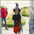 African girl in Halloween costume — Stock Photo #23322866