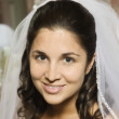 Portrait of Hispanic bride — Stock Photo