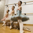 Stock Photo: Hispanic female ballet dancers posing
